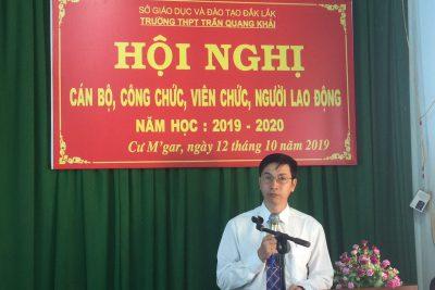 HỘI NGHỊ CÁN BỘ, CÔNG CHỨC, VIÊN CHỨC, NGƯỜI LAO ĐỘNG NĂM HỌC 2019-2020