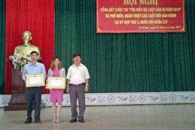 """Kết quả cuộc thi """"Tìm hiểu Bộ Luật Dân sự 2015"""" của Trường THPT Trần Quang Khải"""
